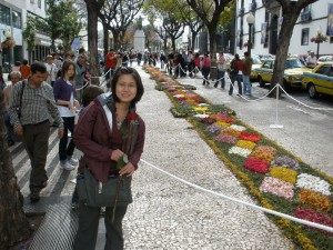 Flower carpet during the flower festival