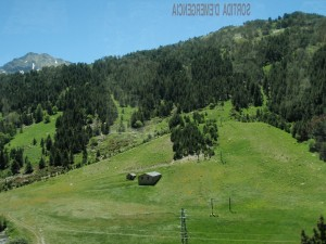 Mountains and valleys in Andorra