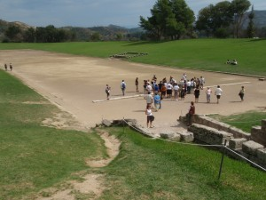 Ancient Olympic games stadium