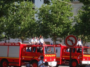 Bastille Parade - fire trucks