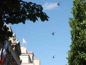 Bastille Parade - helicopters