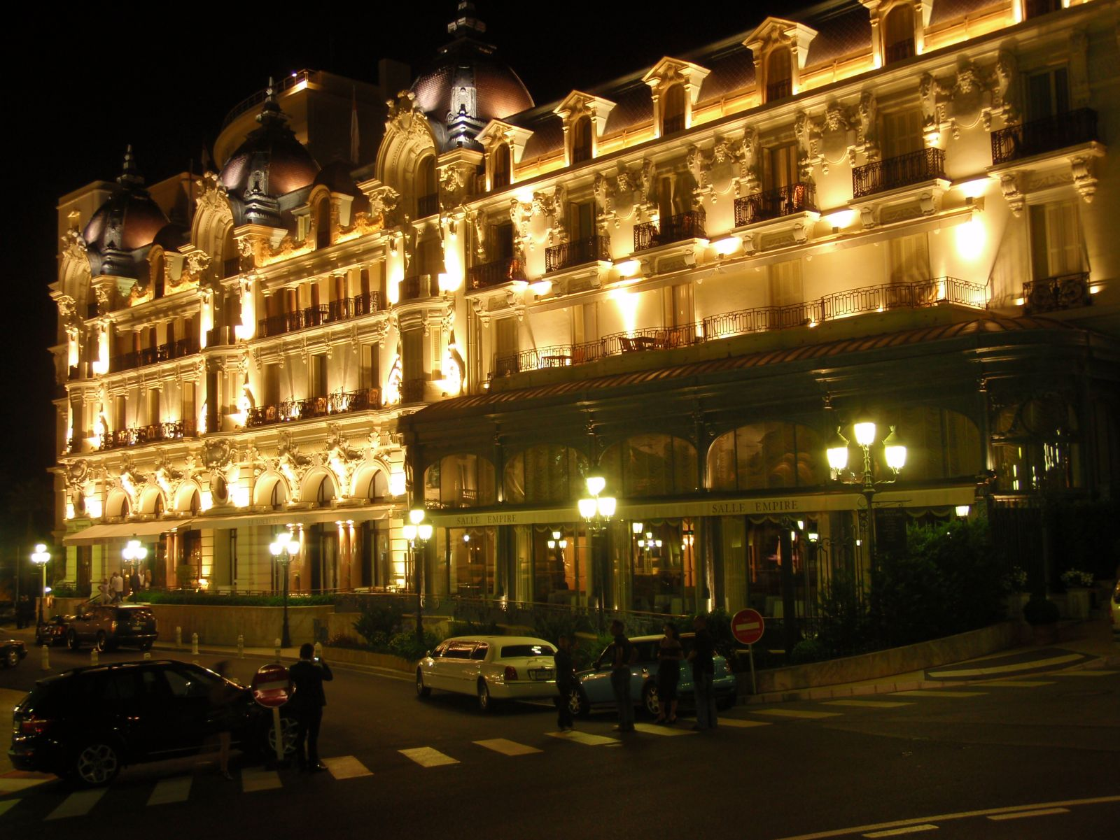 The luxury Hotel de Paris,