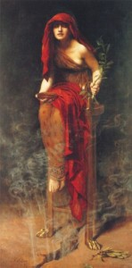 Priestess of Delphi, painting by John Collier (1891)