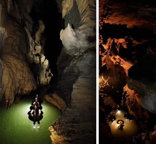 Black water rafting in Waitomo Caves
