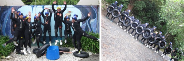 Waitomo black water rafting: choosing the tube