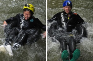 Black water rafting preparation: learn how to jump over waterfall