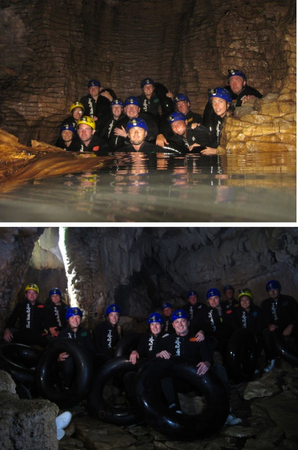 With the BWR team inside the Ruakuri Cave