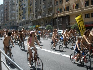 Madrid naked bike ride 2009 1