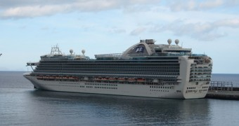 Ruby Princess cruise ship, docking in Madeira