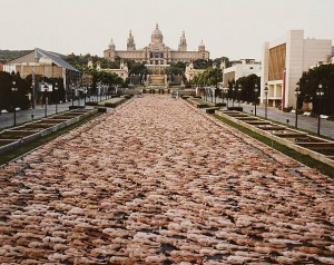 Spencer Tunick - Barcelona 1 (Institut de Cultura) 2003