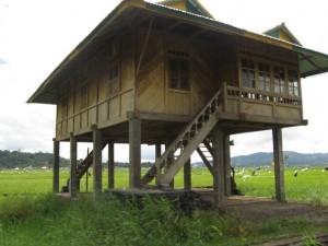 Typical house in Tomohon, North Sulawesi