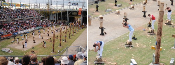 Wood chopping competition