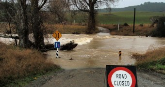 Flood near Oamaru - NZ South Island - East Coast 2