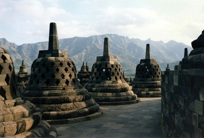 Borobudur Temple, Java, Indonesia. (Photo from WikimediaCommons)