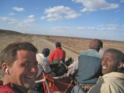 On top of a three ton lorry in Ethiopia. © One Lap No Jetlag