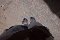 Wearing my Vibram FiveFingers in Udaipur, India. © Raam Dev