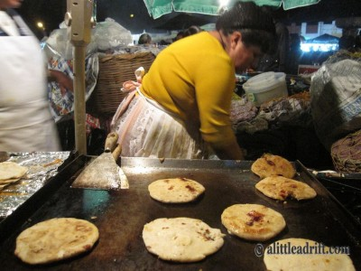 Eat the street food! Here's papoosas from Guatemala. © A Little Adrift