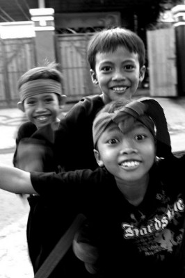 The smiles of Balinese boys. © No Place Like Here