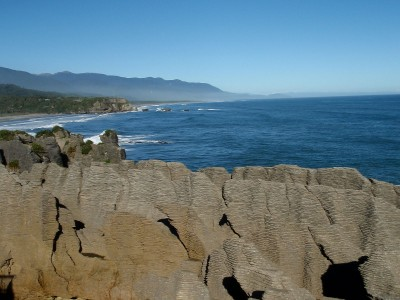 Punakaiki pancake rocks at the gorgeous west coast.