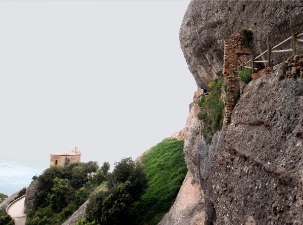 Hermitage of Sant Joan (left) and the precarious one (right)