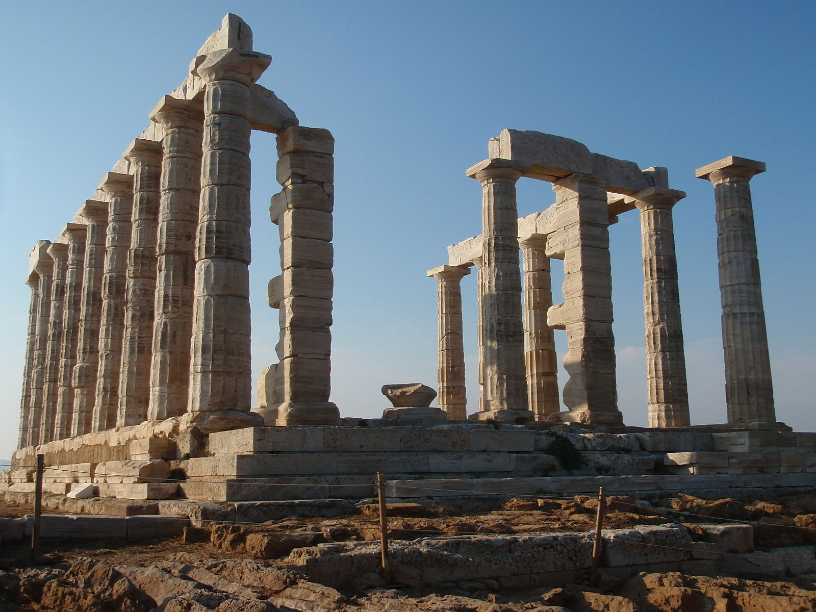 The Venerable Ancient Greek Ruins at Sounion: The Temple ...