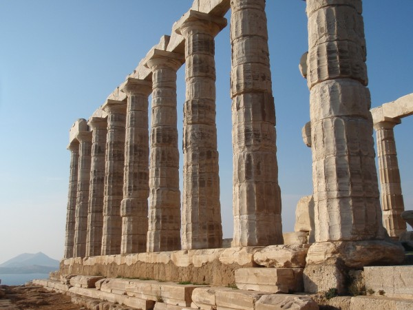 Temple of Poseidon at Sounion Greece
