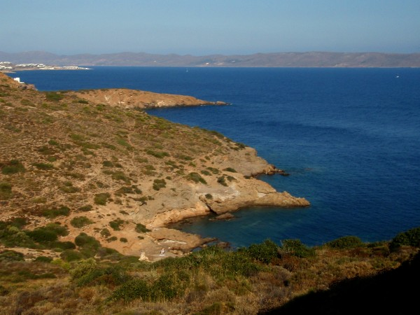 Sounion coast of Attica Peninsula overlooking the Aegean Sea
