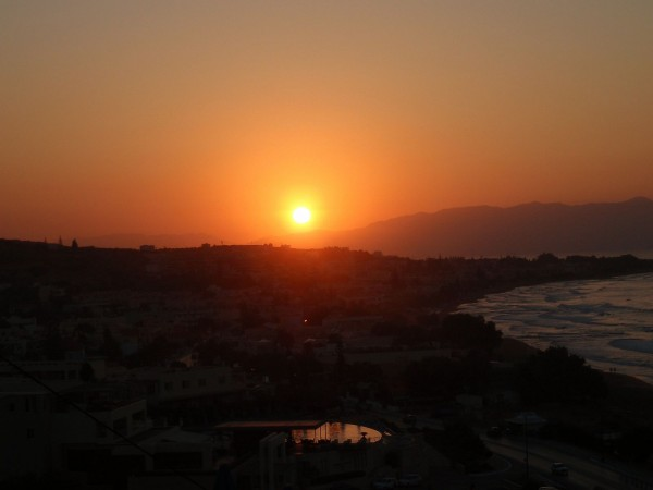 Sunset at Kato Stalos, Crete Island, Greece