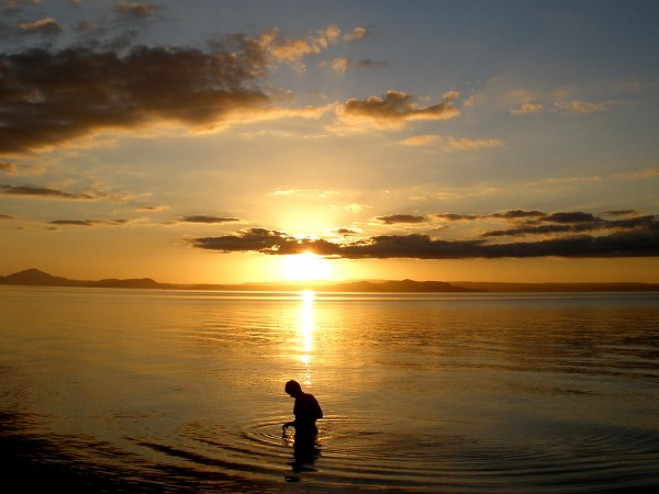 Sunset at Lake Taupo, New Zealand