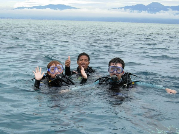 SCUBA diving at Bunaken's underwater paradise