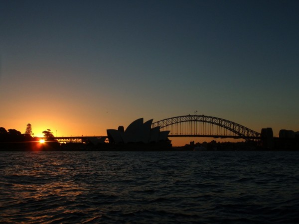 Sunset over Sydney Opera House, Australia