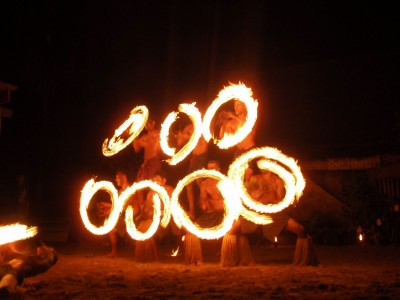 Fire dance men (Fiji)