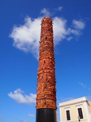 Totem Telurico in Old San Juan, Puerto Rico