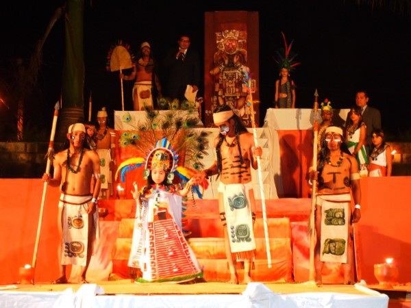 Copan Ruinas town fair: Mayan themed kids beauty pageant. Honduras
