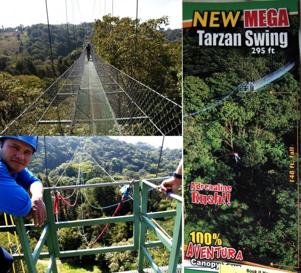 Tarzan swing in Monteverde, Costa Rica