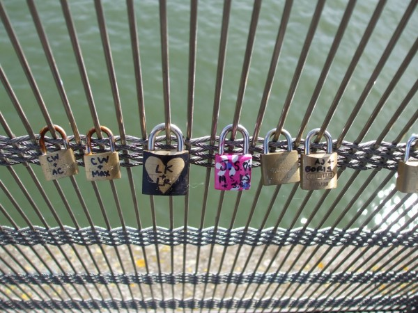 France by A Traveler's Library - Love locks on a bridge over Seine, Paris