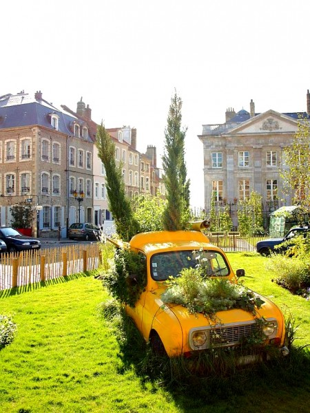 "France by Globe Trotter Girls - The ""car wreck park"" in the medieval town center of Boulogne-Sur-Mer"