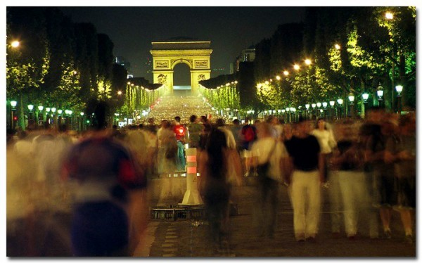 France by Go Overseas - Champs-Élysées on the night France beat Brazil in 2006 World Cup