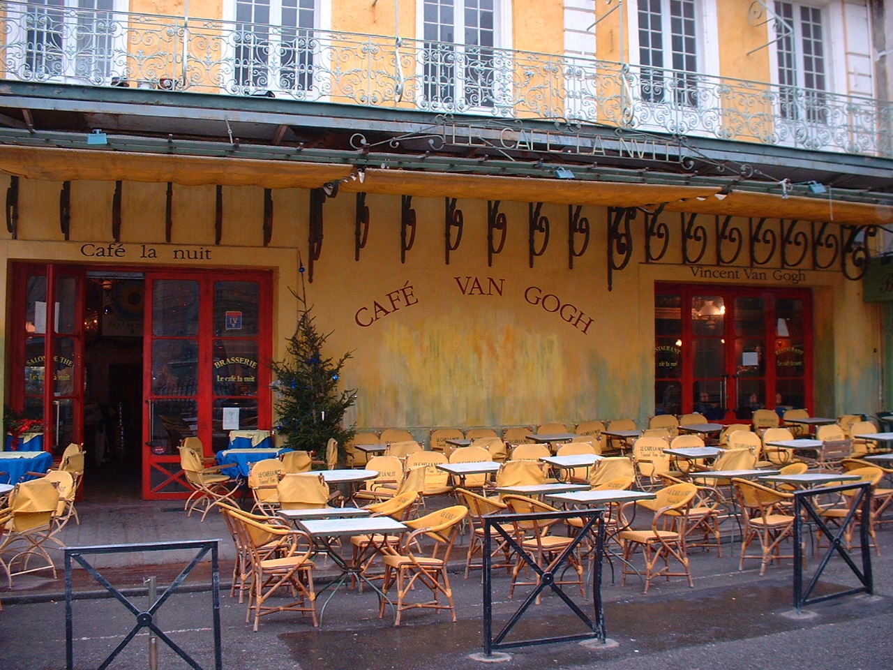 Famous cafe painting - Cafe Terrace Van Gogh On The Place Du Forum Arles France Colorful Picturesque Streets Places Pinterest France