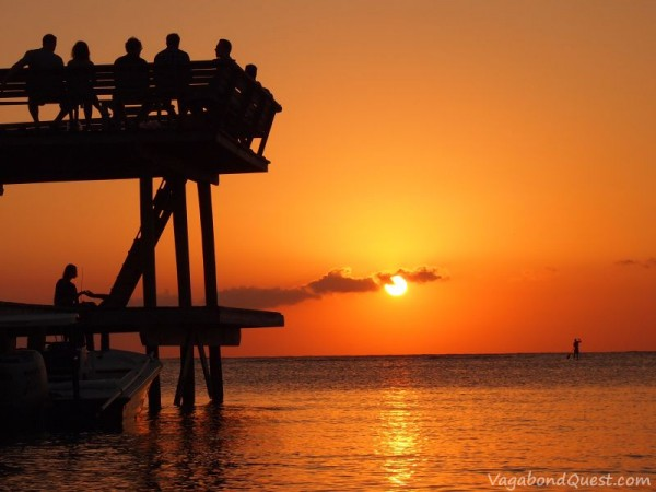 Sunset at Roatan, Honduras.