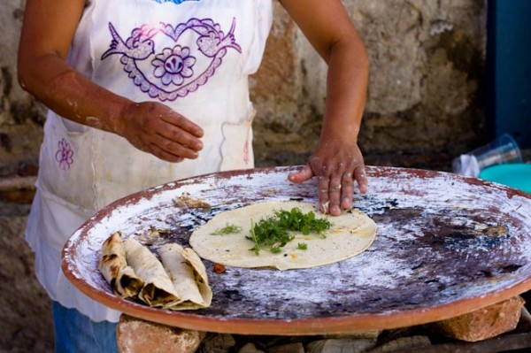 Mexico by Ayngelina - Making quesadillas in Oaxaca Mexico