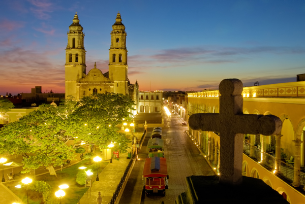 Mexico by Expert Vagabond - Campeche Cathedral sunrise