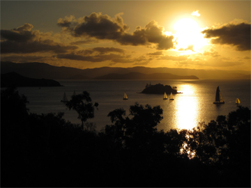 The view Andrea and John had in their wedding week in Hamilton Island (Photo © Inspiring Travellers)