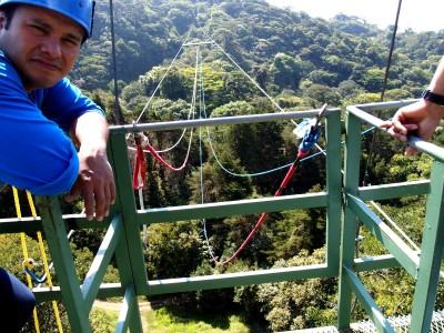 Tarzan swing guide in Monteverde, Costa Rica