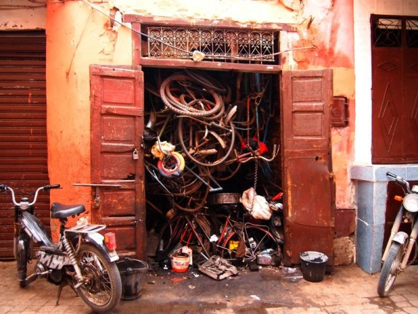Bicycle storage - Medina Marrakech Morocco