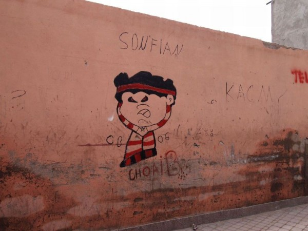 Graffiti in Medina Quarter of Marrakech, Morocco