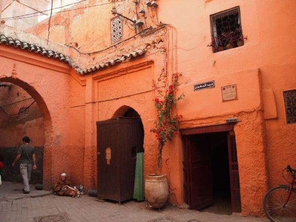 Typical houses in Medina Quarter of Marrakech, Morocco
