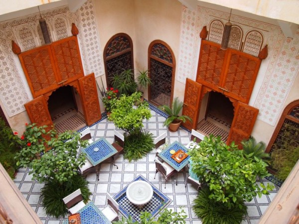 Inside a Riad - Red City Marrakech, Morocco