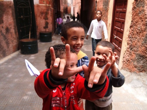 Local kids - Medina Quarter of Marrakech, Morocco
