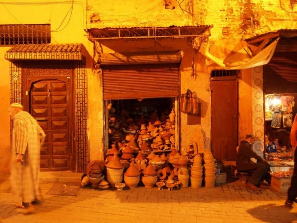 Pottery storage - Medina Quarter of Marrakech, Morocco